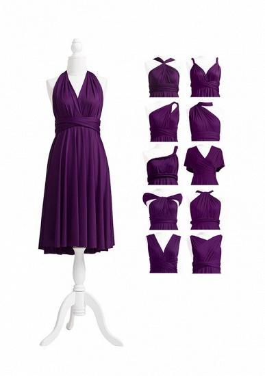 BMbridal Purple Multiple A-Line Bridesmaid Dresses_5