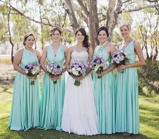 BMbridal Mint Green Multiway Infinity Bridesmaid Dress_3