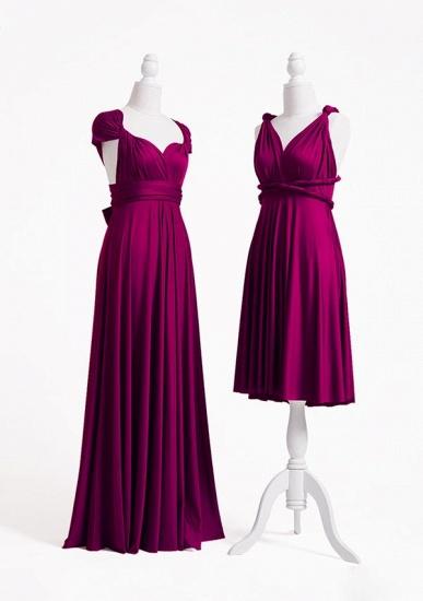 BMbridal Grape Multiway Ruffles Infinity A-Line Bridesmaid Dresses_3