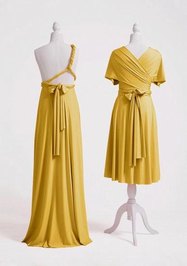 BMbridal Mustard Multiple A-Line Bridesmaid Dresses Long_4