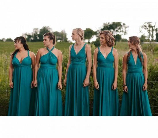 BMbridal Sleeveless Dusty Navy Multiway Infinity Bridesmaid Dress_3
