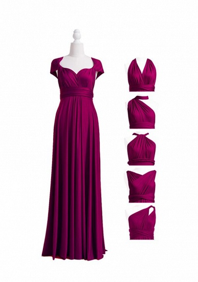 BMbridal Grape Multiway Ruffles Infinity A-Line Bridesmaid Dresses_4
