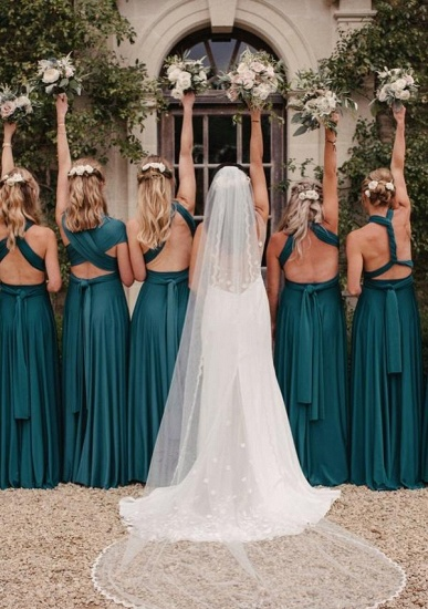 BMbridal Dark Green Multiple A-Line Bridesmaid Dresses_3