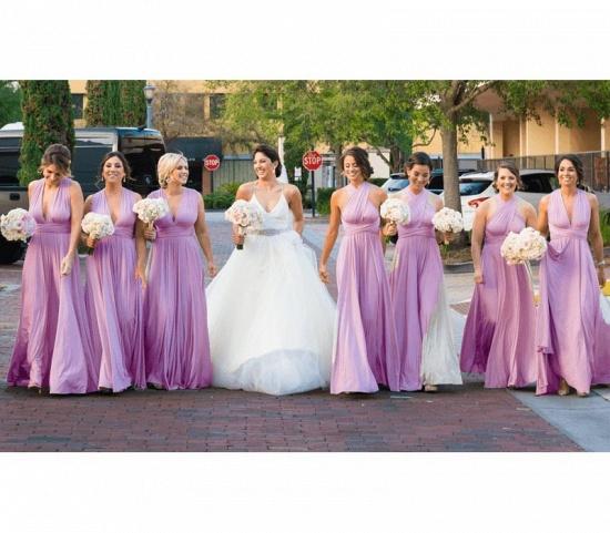 BMbridal Sleeveless Light Purple Multiway Infinity Bridesmaid Dress_5