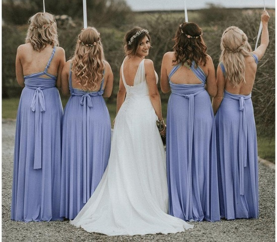 BMbridal Light Purple Ruffles Multiway Infinity A-Line Bridesmaid Dresses_3