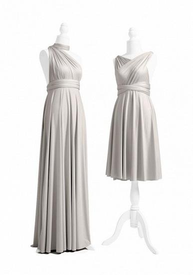 BMbridal Silver Multiple A-Line Bridesmaid Dresses Long_3