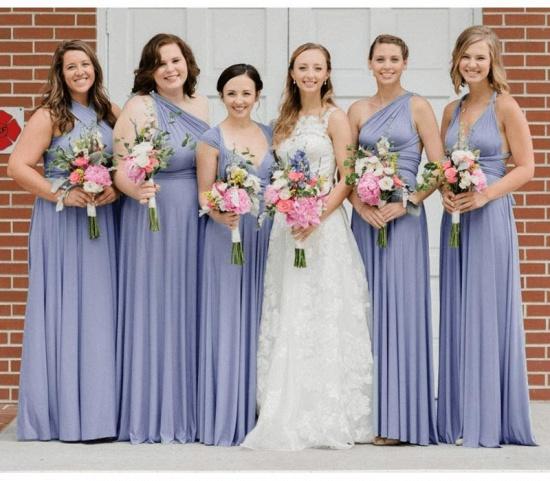 BMbridal Light Purple Ruffles Multiway Infinity A-Line Bridesmaid Dresses_2