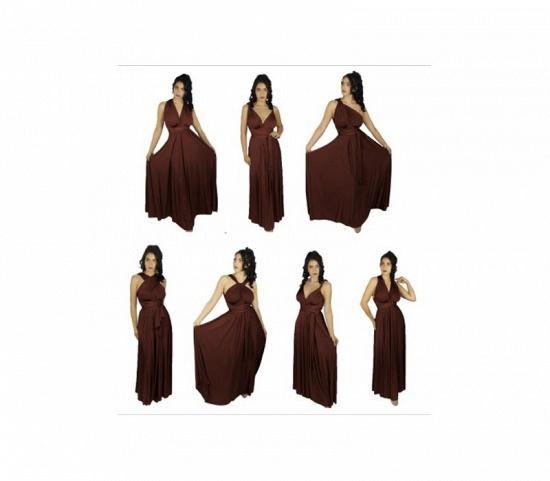 BMbridal Burgundy Multiway Infinity Ruffles Bridesmaid Dresses_2