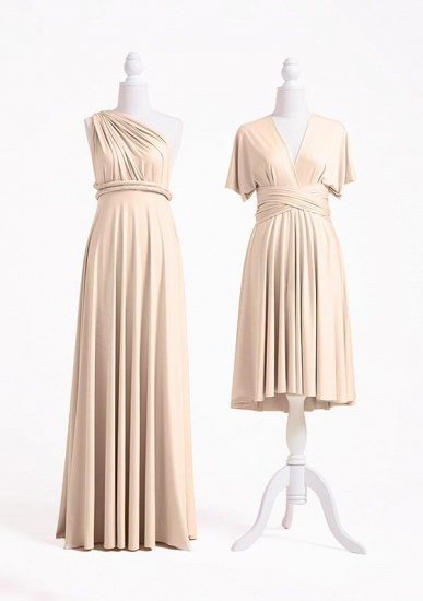 BMbridal Champagne Multiple A-Line Bridesmaid Dresses_2