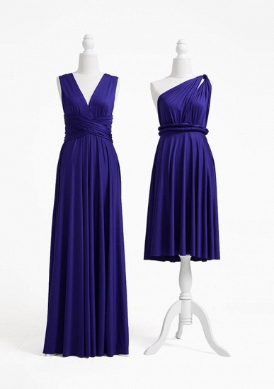 BMbridal Ink Blue Multiway Ruffles Infinity A-Line Bridesmaid Dresses_2