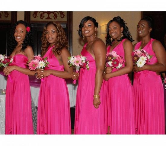 BMbridal Fuchsia Multiway Infinity Ruffles Bridesmaid Dresses_1