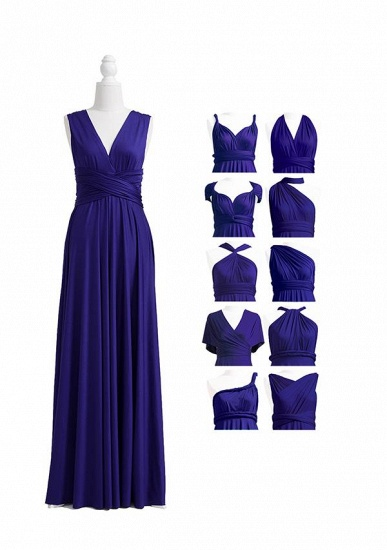 BMbridal Ink Blue Multiway Ruffles Infinity A-Line Bridesmaid Dresses_4