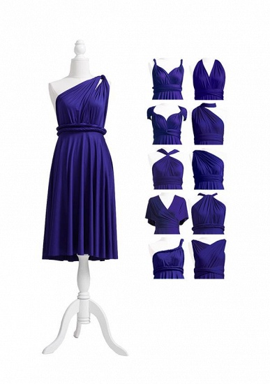 BMbridal Ink Blue Multiway Ruffles Infinity A-Line Bridesmaid Dresses_5