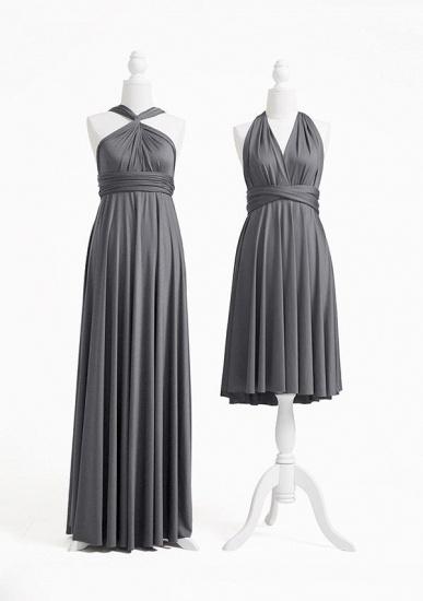 BMbridal Silver Multiple Ruffles A-Line Bridesmaid Dresses_2