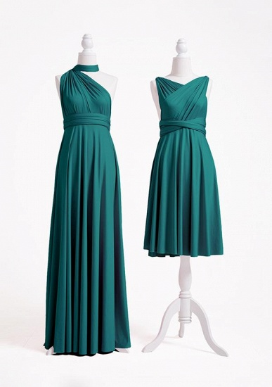 BMbridal Dark Green Multiple A-Line Bridesmaid Dresses_4