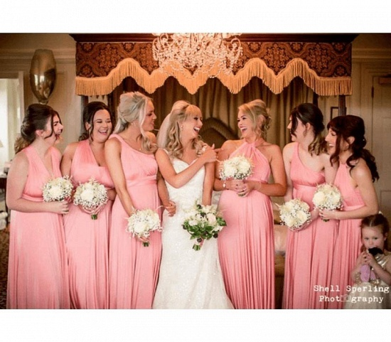 BMbridal Coral Ruffles Multiway Infinity A-Line Bridesmaid Dresses_3