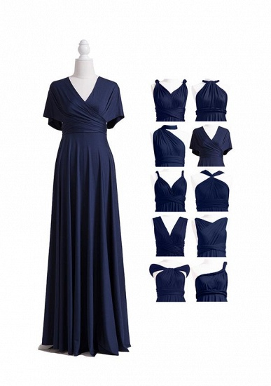BMbridal Dark Navy Multiway Ruffles Infinity A-Line Bridesmaid Dresses_6