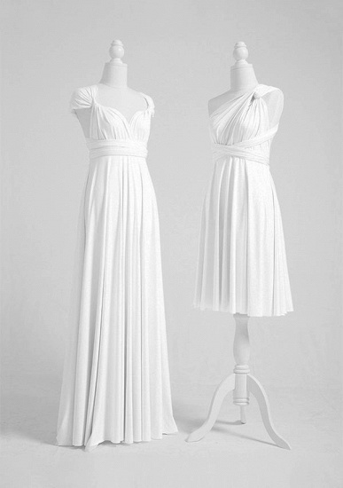 BMbridal White Multiway Infinity Ruffles A-Line Bridesmaid Dresses_3