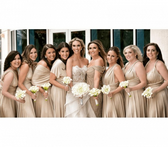BMbridal Blushing Pink Ruffles Multiway Infinity A-Line Bridesmaid Dresses_3