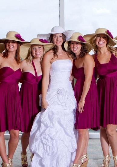 BMbridal Grape Multiway Ruffles Infinity A-Line Bridesmaid Dresses_1