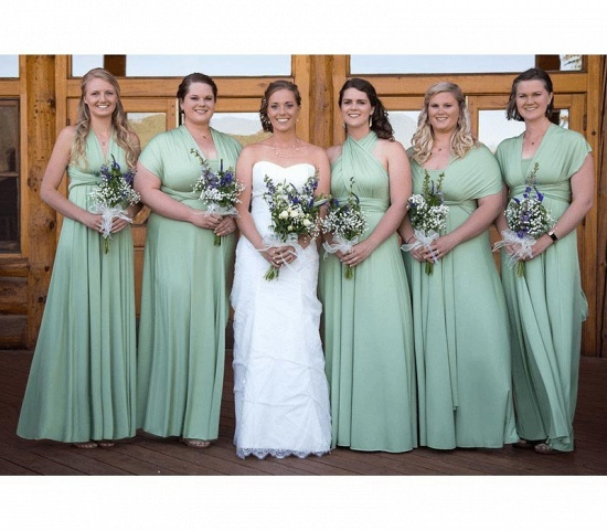 BMbridal Sleeveless Mint Multiway Infinity Bridesmaid Dress_2