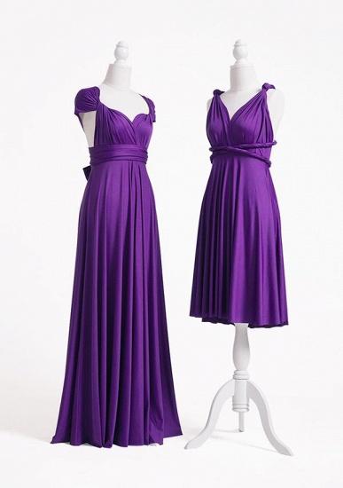 BMbridal Purple Multiple Infinity Bridesmaid Dresses Long_3