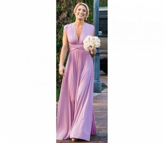BMbridal Sleeveless Light Purple Multiway Infinity Bridesmaid Dress_6