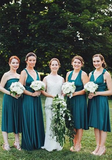BMbridal Dark Green Multiple A-Line Bridesmaid Dresses_1