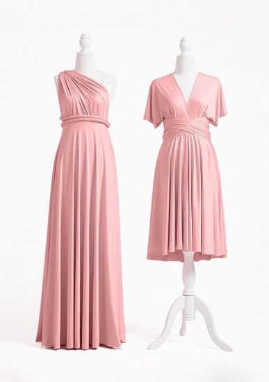 BMbridal Blushing Pink Multiway Ruffles Infinity A-Line Bridesmaid Dresses_2