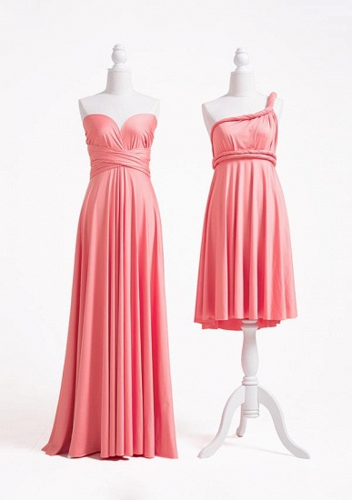 BMbridal Coral Multiway Ruffles Infinity A-Line Bridesmaid Dresses_2