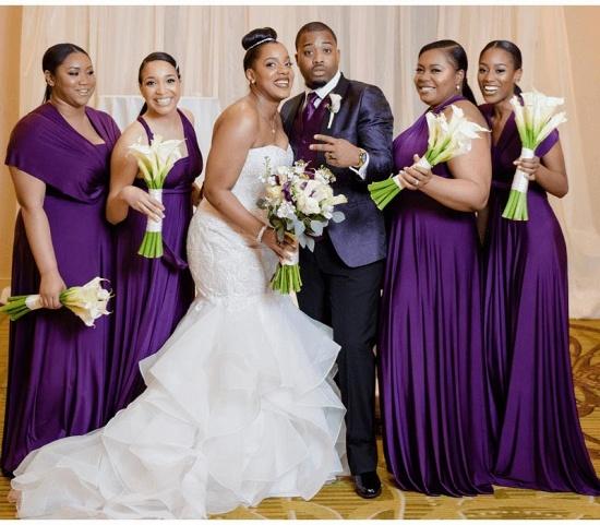 BMbridal Sleeveless Purple Multiway Infinity A-Line Bridesmaid Dress_3