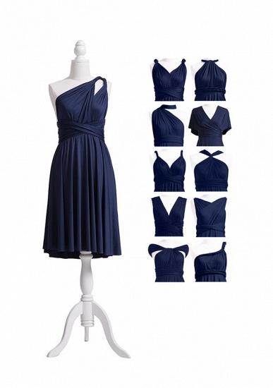 BMbridal Dark Navy Multiway Ruffles Infinity A-Line Bridesmaid Dresses_7