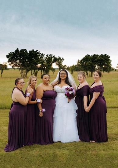 BMbridal Purple Multiple A-Line Bridesmaid Dresses_1