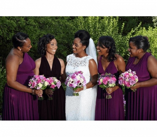 BMbridal Sleeveless Purple Multiway Infinity Bridesmaid Dress_3