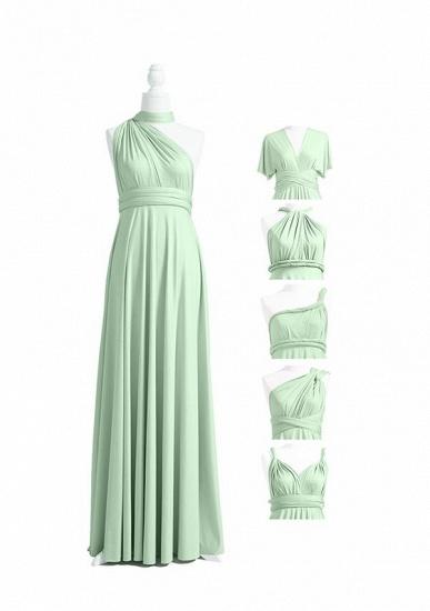 BMbridal Light Green Multiway Ruffles Infinity A-Line Bridesmaid Dresses_4
