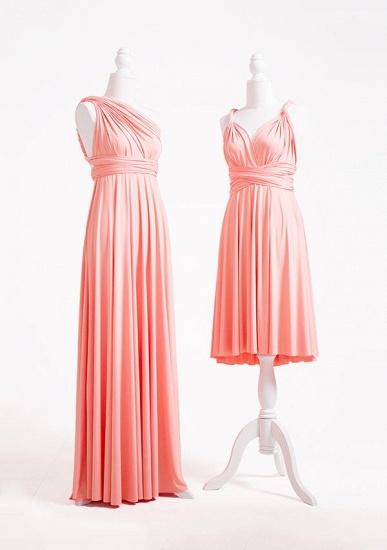 BMbridal Coral Multiway Ruffles A-Line Bridesmaid Dresses Long_3