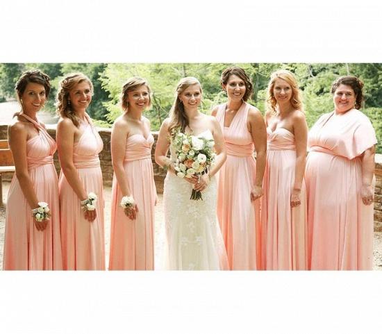 BMbridal Pearl Pink Ruffles Multiway Infinity Bridesmaid Dresses Long_2