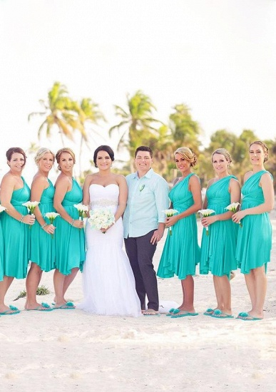 BMbridal Mint Green Multiway Ruffles Infinity A-Line Bridesmaid Dresses_1