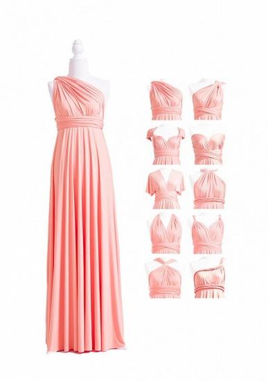 BMbridal Coral Multiway Ruffles A-Line Bridesmaid Dresses Long_4