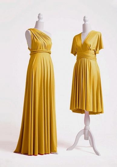 BMbridal Mustard Multiple A-Line Bridesmaid Dresses Long_3