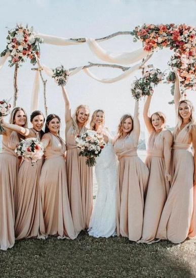 BMbridal Champagne Multiple A-Line Bridesmaid Dresses_1