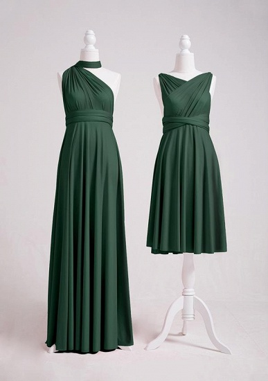 BMbridal Dark Green Multiway Infinity Bridesmaid Dress_2