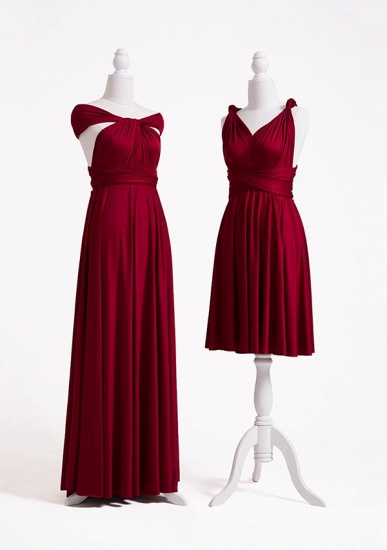 BMbridal Burgundy Multiway Ruffles Infinity A-Line Bridesmaid Dresses_2