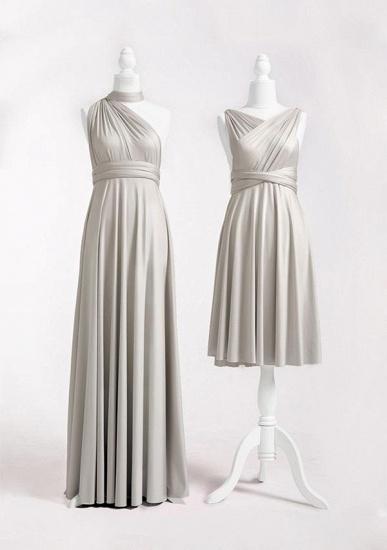 BMbridal Silver Multiple A-Line Bridesmaid Dresses Long_2