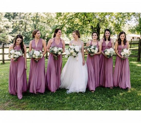 BMbridal Purple Multiple Bridesmaid Dresses Long_3