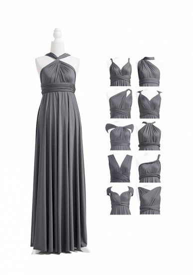BMbridal Silver Multiple Ruffles A-Line Bridesmaid Dresses_4