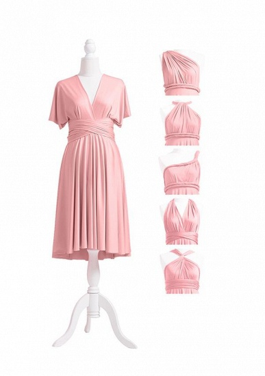 BMbridal Blushing Pink Multiway Ruffles Infinity A-Line Bridesmaid Dresses_5