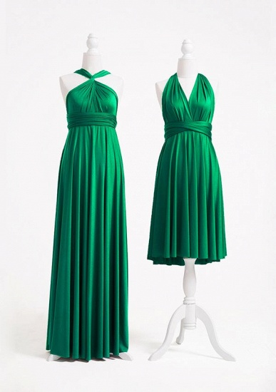 BMbridal Emerald Multiple A-Line Bridesmaid Dresses Long_2