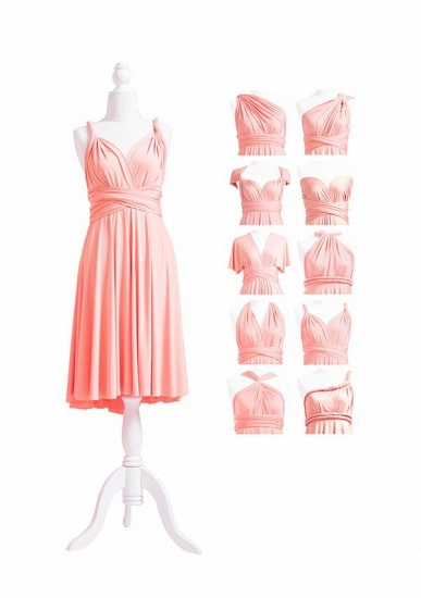 BMbridal Coral Multiway Ruffles A-Line Bridesmaid Dresses Long_5