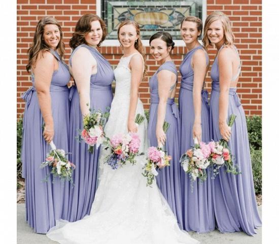 BMbridal Light Purple Ruffles Multiway Infinity A-Line Bridesmaid Dresses_4